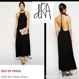 NWOT - d.RA Kaci Open Back Chiffon Maxi Dress - S